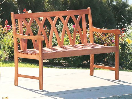 Vifah Malibu Eco-friendly 4-foot Hardwood Garden Bench