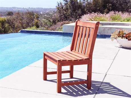 Vifah Malibu Eco-friendly Hardwood Garden Armless Chair