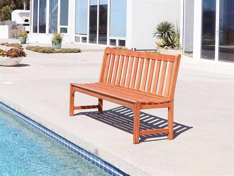 Vifah Malibu Eco-friendly 5-foot Hardwood Garden Armless Bench