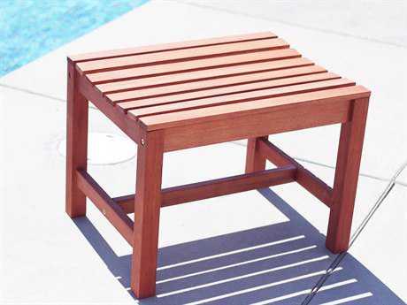 Vifah Malibu Eco-friendly Hardwood Garden Backless Chair