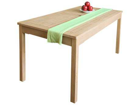 Vifah Beverly Outdoor Garden Classic 59 x 31 Rectangular Acacia Hardwood Table