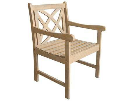 Vifah Beverly Outdoor Garden Acacia Hardwood Armchair