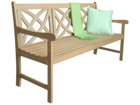 Vifah Beverly Outdoor Garden Outdoor Acacia Hardwood 5-foot Garden Bench