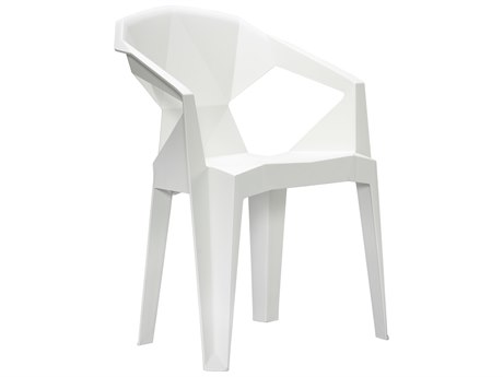 Vifah 3D Resin Stacking Chair In White
