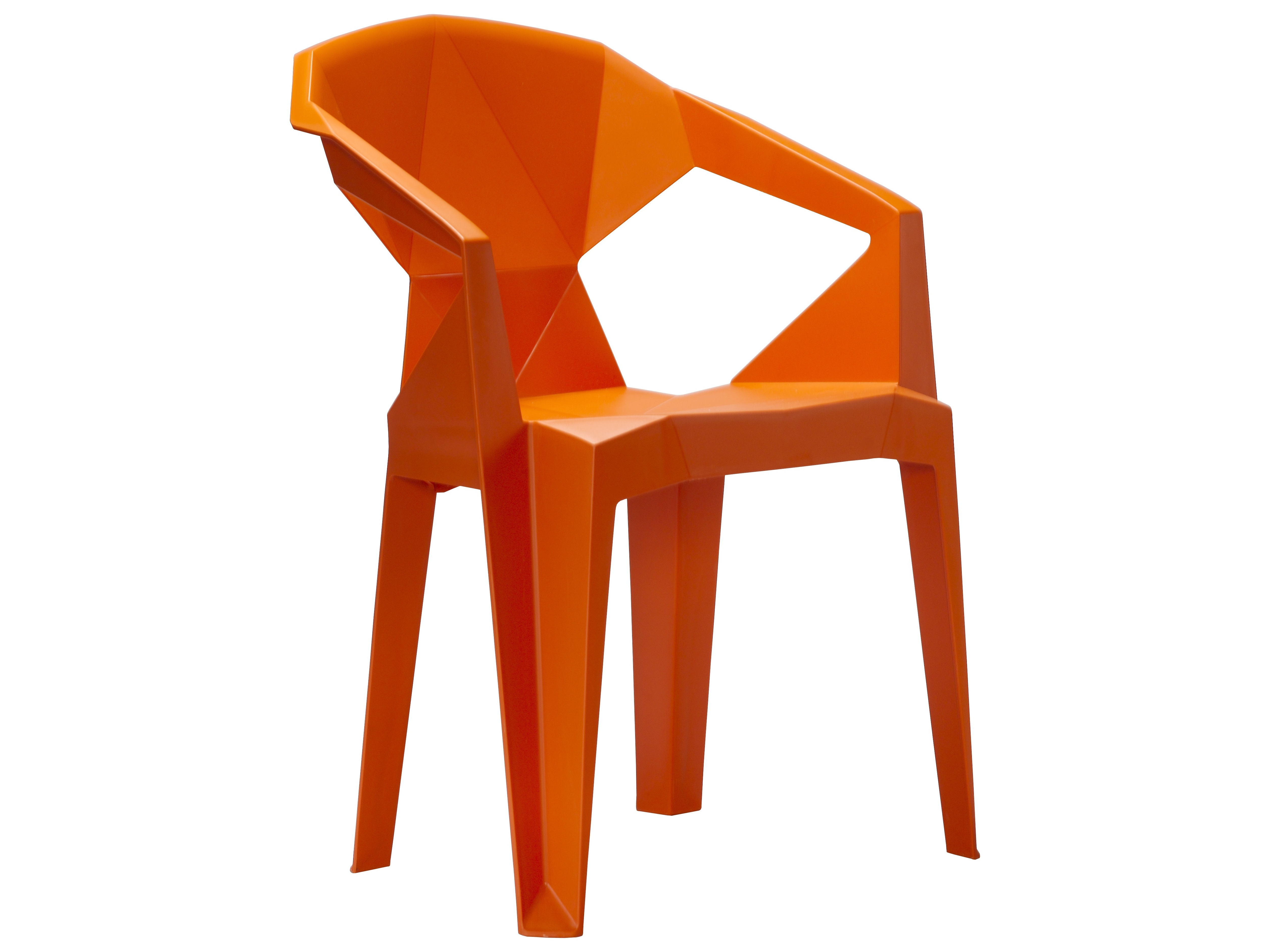 Vifah 3D Resin Stacking Chair In Orange ...