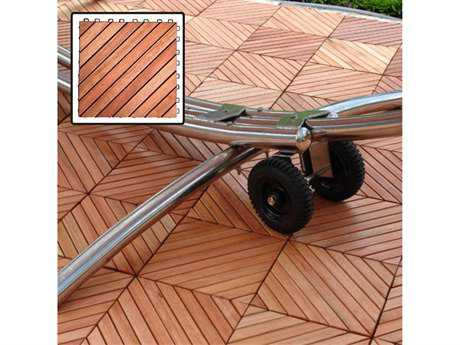 Vifah Eucalyptus Diagonal Slat Eucalyptus Interlocking Deck Tile