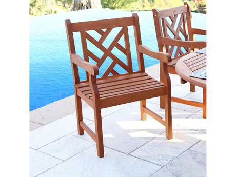 Vifah Eucalyptus Wood Arm Chair