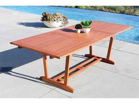 Vifah Wood 91 x 39 Rectangular Extention Table with Foldable Butterfly