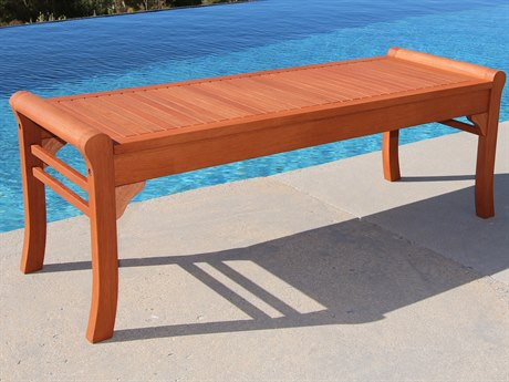 Vifah Wood 59 x 18 Backless Bench