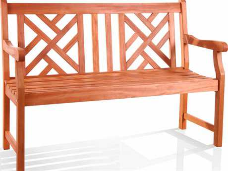 Vifah Eucalyptus Wood 48 x 22.5 Bench