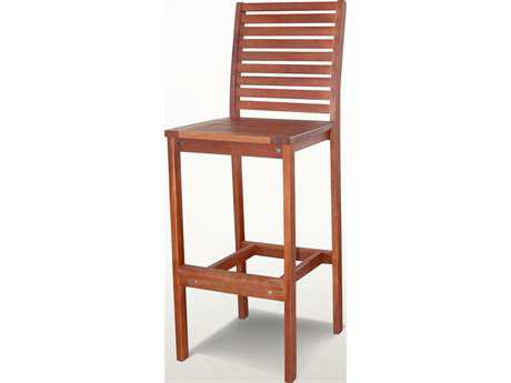 Vifah Eucalyptus Wood Bar Chair