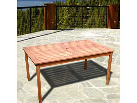 Vifah  Eucalyptus Wood 59 x 32 Rectangular Table