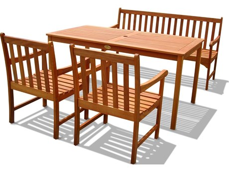 Vifah Wood English Garden Dining Set