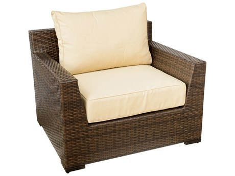 Vida Outdoor Pacific Wicker Club Chair - Almond
