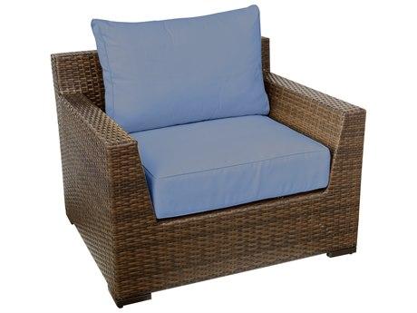 Vida Outdoor Pacific Wicker Club Chair - Denim