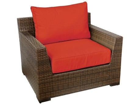 Vida Outdoor Pacific Wicker Club Chair - Terracotta