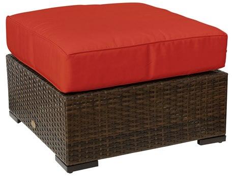 Vida Outdoor Pacific Wicker Cushion Patio Ottoman