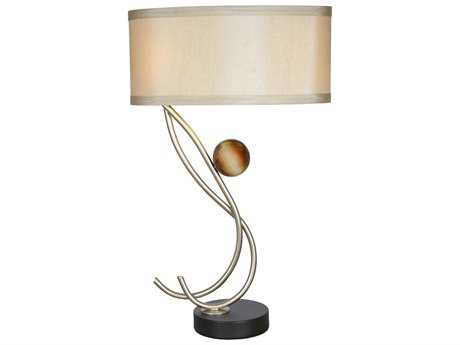 Van Teal Ambrosia Elixir Too Silver Jacobean & Cafe Noir Two-Light Table Lamp