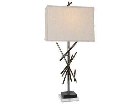 Van Teal Forces ''Power'' Artisteel / Black Matte Table Lamp