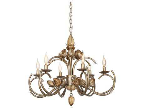 Van Teal You Will Remember ''Hanna'' Tiffany Gold Chandelier