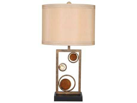 Van Teal Free Wheeling ''Wheels of Friendship'' Golden Ochre and Black Table Lamp