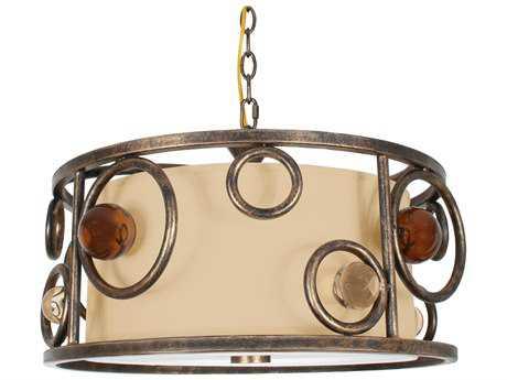 Van Teal Free Wheeling All Wheels Golden Ochre Three-Light Pendant Light