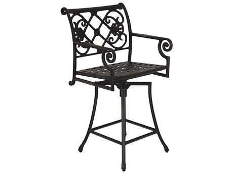 Windham Castings Catalina Cast Aluminum Arm Swivel Counter Stool