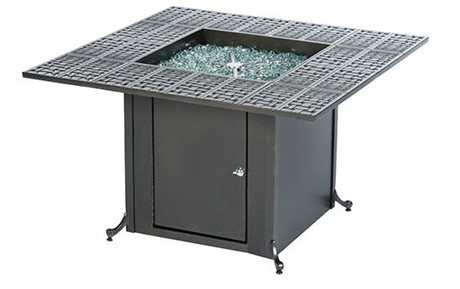 Windham Castings Universal Cast Aluminum 40'' Square Woven Firepit Table