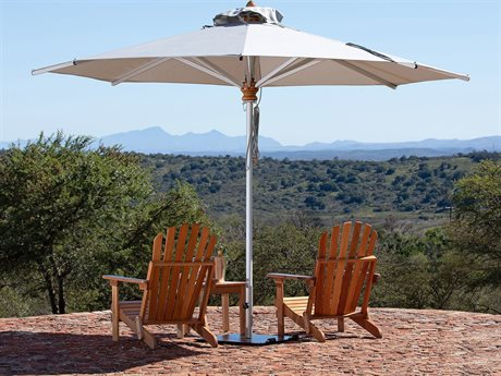 Woodline Shade Solutions Bravura Aluminum 11.5' Octagon Pulley Lift Umbrella PatioLiving