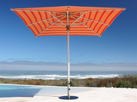 Woodline Shade Solutions Bravura Aluminum 11.5' Square Pulley Lift Umbrella PatioLiving