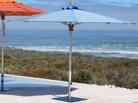 Woodline Shade Solutions Bravura Aluminum 13.1' Octagon Pulley Lift Umbrella PatioLiving
