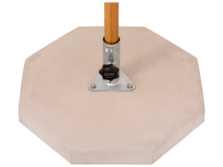 Woodline Shade Solutions Concrete Slab Base Kit with 1.5'' Galvanized Tube (66 Lbs) PatioLiving