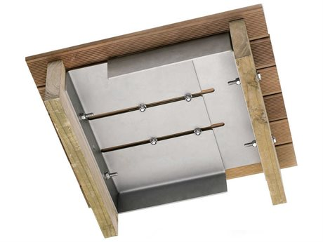 Woodline Shade Solutions Stainless Steel Universal Below Deck Mount with Spigot PatioLiving