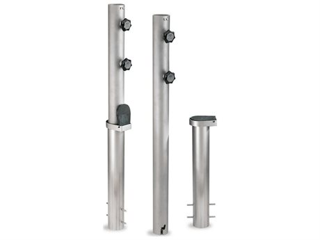 Woodline Shade Solutions Large Delux Bayonet Inground Pole - 2.75'' Tube (Set of 2) PatioLiving