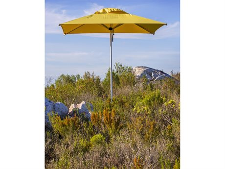 Woodline Shade Solutions Mistral Aluminum 6.6' Square Pulley Lift Umbrella PatioLiving