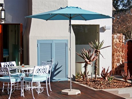 Woodline Shade Solutions Mistral Aluminum 8.9' Hexagon Pulley Lift Umbrella PatioLiving