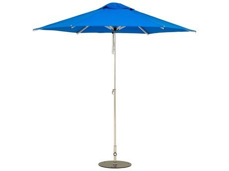 Woodline Shade Solutions Mistral Aluminum 9.8' Round Pulley Lift Umbrella