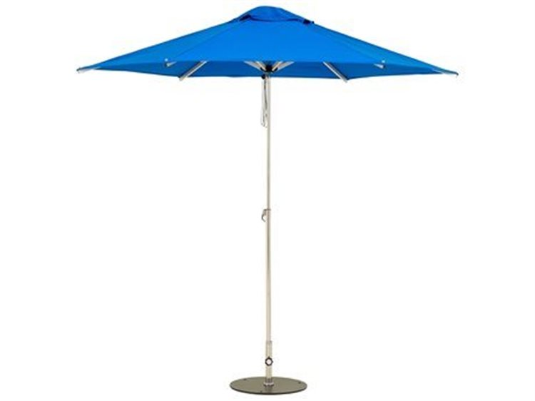 Woodline Shade Solutions Mistral Aluminum 9.8' Round Pulley Lift Umbrella PatioLiving