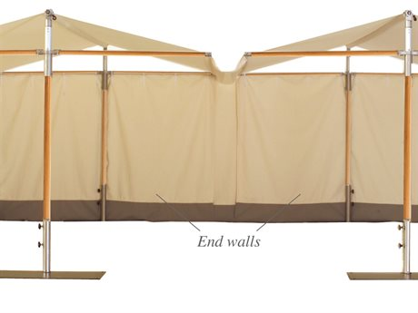 Woodline Shade Solutions Papillon End Wall PatioLiving