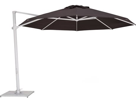Woodline Shade Solutions Pavone Aluminum Cantilever 11.5' Octagon Crank Lift Umbrella