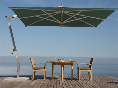 Woodline Shade Solutions Pendulum Aluminum Cantilever 13.1' x 9.8' Rectangular Crank Lift Umbrella PatioLiving