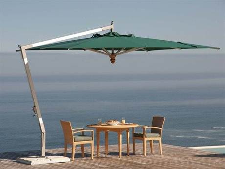 Woodline Shade Solutions Pendulum Aluminum Cantilever 13.1' Octagon Crank Lift Umbrella PatioLiving