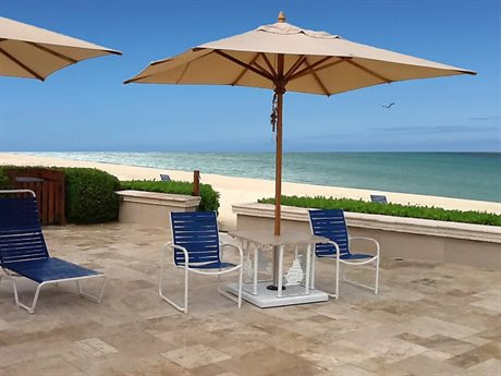 Woodline Shade Solustions Safari Eucalyptus 11.5' Square Pulley Lift Umbrella