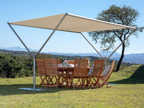Woodline Shade Solutions Sky 13.1' x 10' Rectangular Crank Lift Pavilion