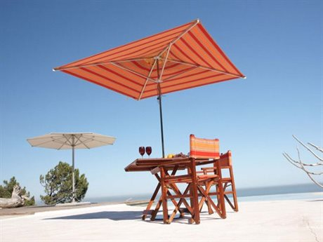 Woodline Shade Solutions Swift Stainless Steel NonTelescopic 6.6' Square Pulley Lift Umbrella