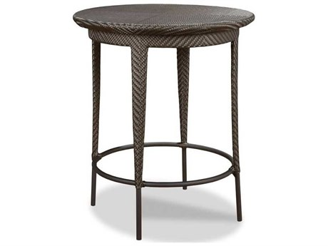 Woodbridge Furniture Outdoor Ventana Espresso 36'' Wide Wicker Round Bar Table