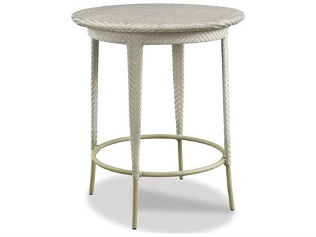 Woodbridge Furniture Outdoor Ventana Floral Gray 36'' Wide Wicker Round Bar Table