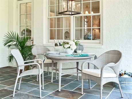 Woodbridge Furniture Outdoor Marigot Aluminum Wicker Dining Set PatioLiving