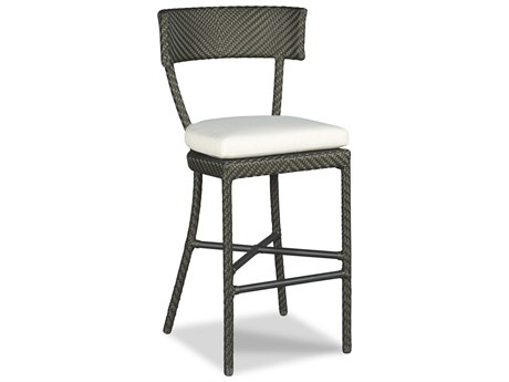 Woodbridge Furniture Outdoor Empire Espresso Aluminum Cushion Bar Stool PatioLiving