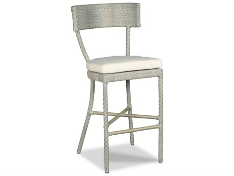 Woodbridge Furniture Outdoor Empire Floral Gray Aluminum Cushion Bar Stool PatioLiving